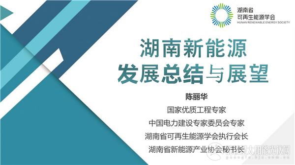 湖南可再生能源学会执行会长陈丽华:湖南新能源发展总结与展望