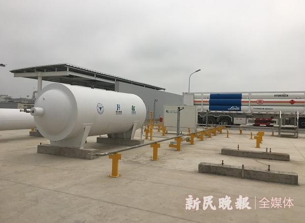 全球最大加氢站落户上海化工区,每天可为百辆大巴加注